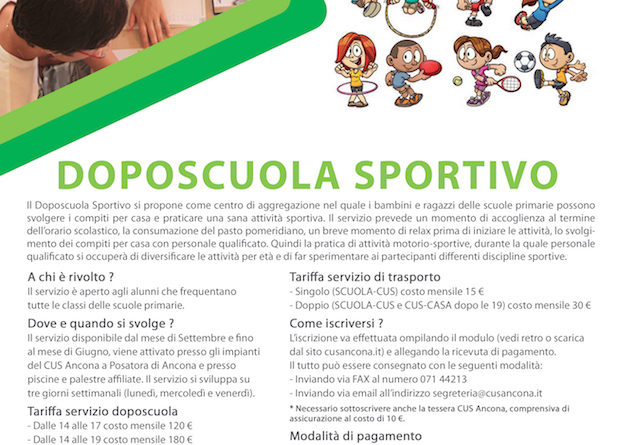 Doposcuola Sportivo 2016-2017