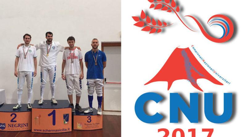 CNU 2017: Scherma – Due medaglie per il fioretto maschile