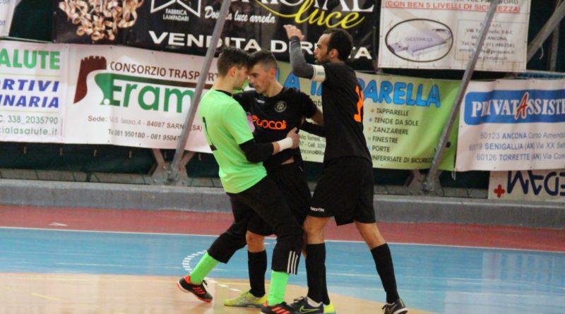 Calcio a 5 : Fioretti regala al Cus Ancona tre punti di platino