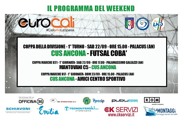 Calcio a 5, il programma del weekend