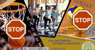 Corsi: Stop alle attività per studenti di basket e volley