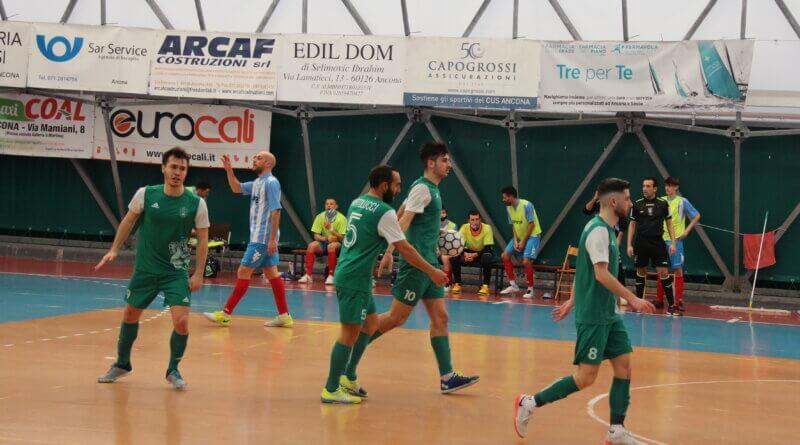 Calcio a 5: Il Faventia espugna il PalaCus e ferma il CUS Ancona